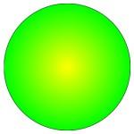 Пример круга, созданного с помощью SVG